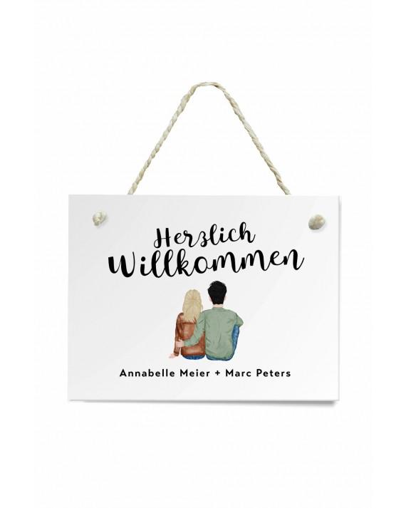 "Namensschild Haustür ""Paar"""