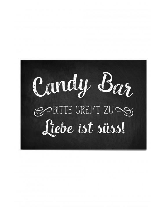 """Candy Bar Poster """"Vintage Tafel"""""""