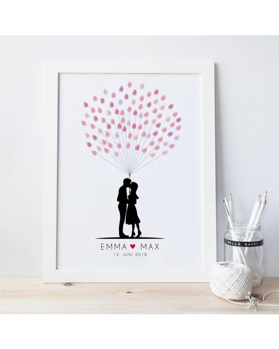 Fingerprint-Poster Liebespaar