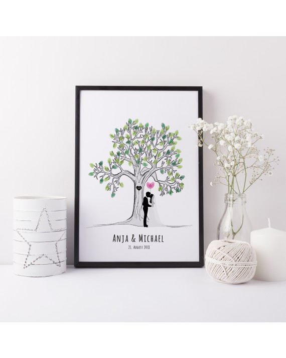 "Fingerprint Poster ""Lovetree Just Married"""