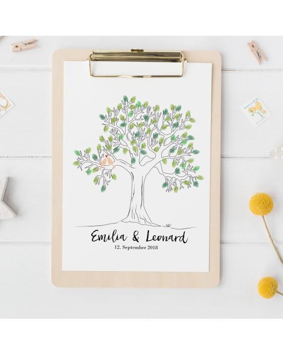 """Fingerprint-Poster """"Weddingtree"""""""