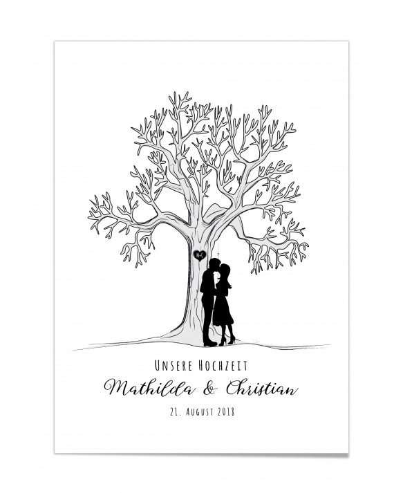 "Fingerprint-Poster ""Lovetree"""