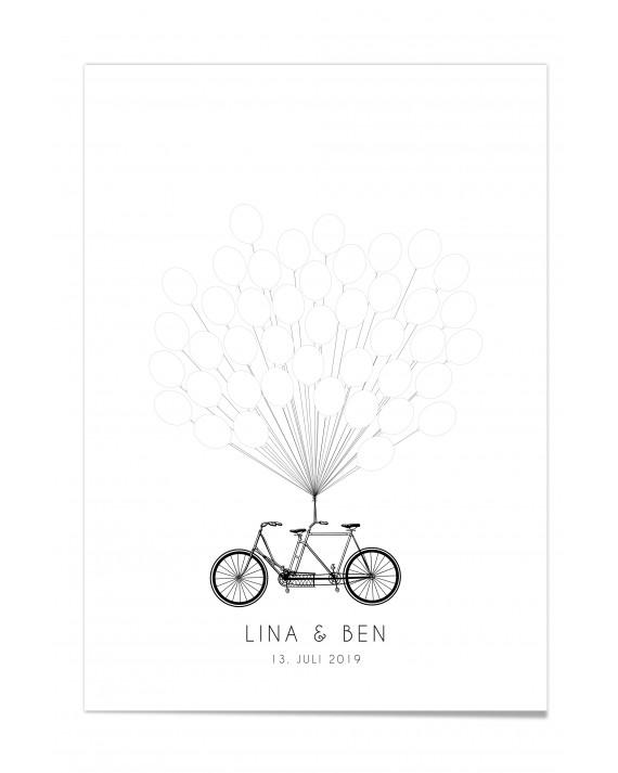 Gästebuch-Poster-Fahrrad