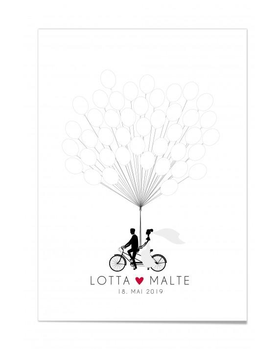 Gästebuch-Poster-Tandem