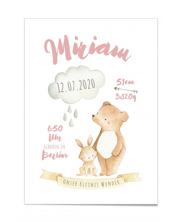"Baby Poster ""Miriam"""