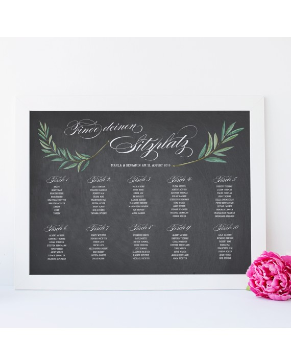 """Tischplan zur Hochzeit """"Florenz"""""""
