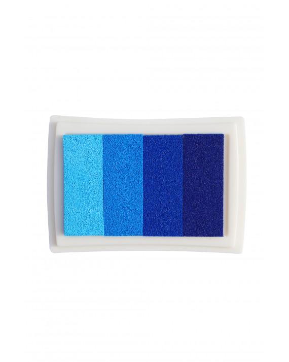 Stempelkissen in verschiedenen Blautönen