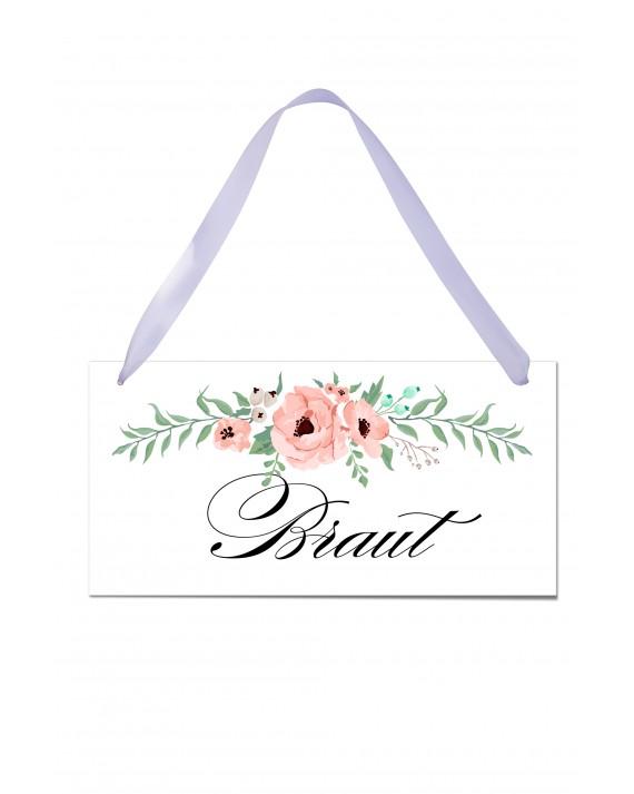 """Stuhlschild """"Braut"""""""