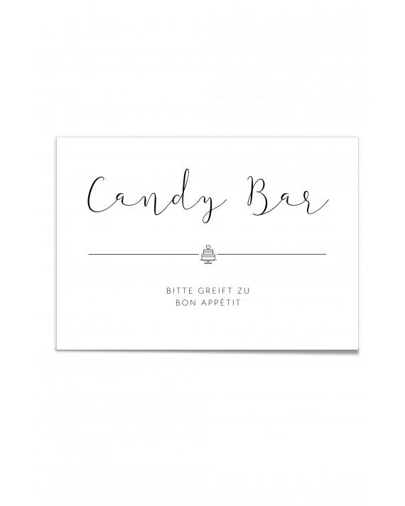 """Hinweis Poster """"Candy Bar"""""""