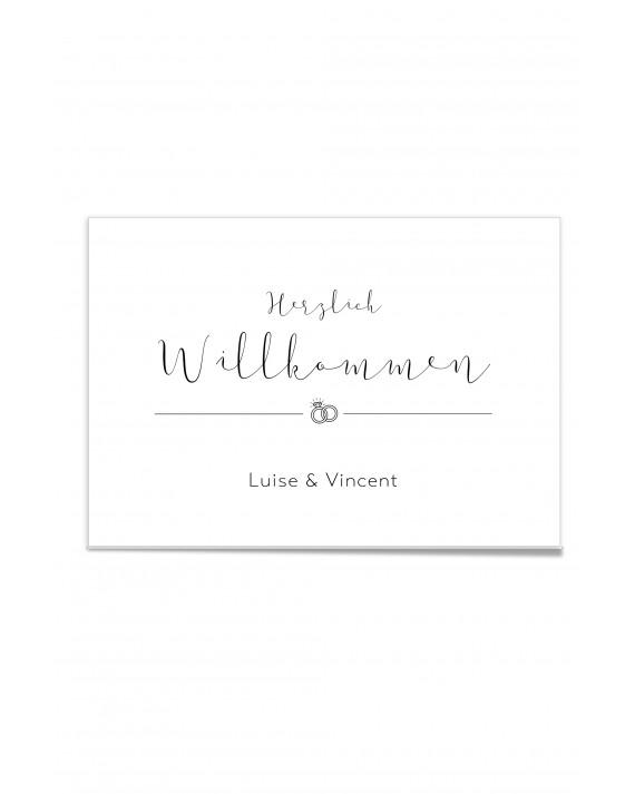 """Willkommen Poster """"Black & White"""""""