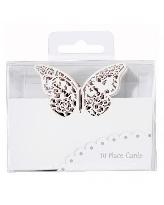"""Tischkarte """"Schmetterling"""" weiß"""