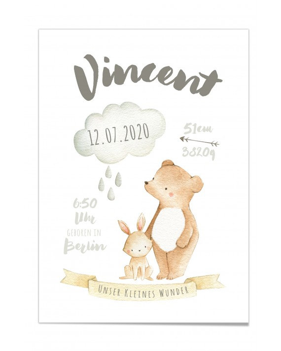 "Baby Poster ""Vincent"""