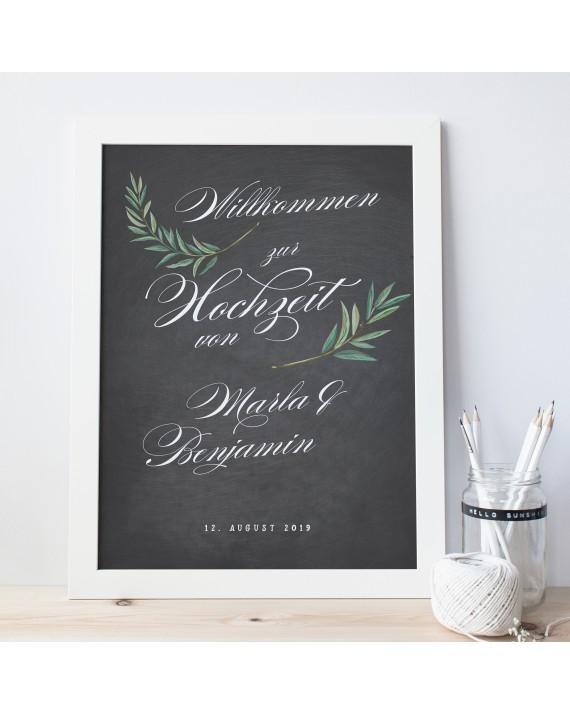 """Willkommen Poster """"Florenz"""""""