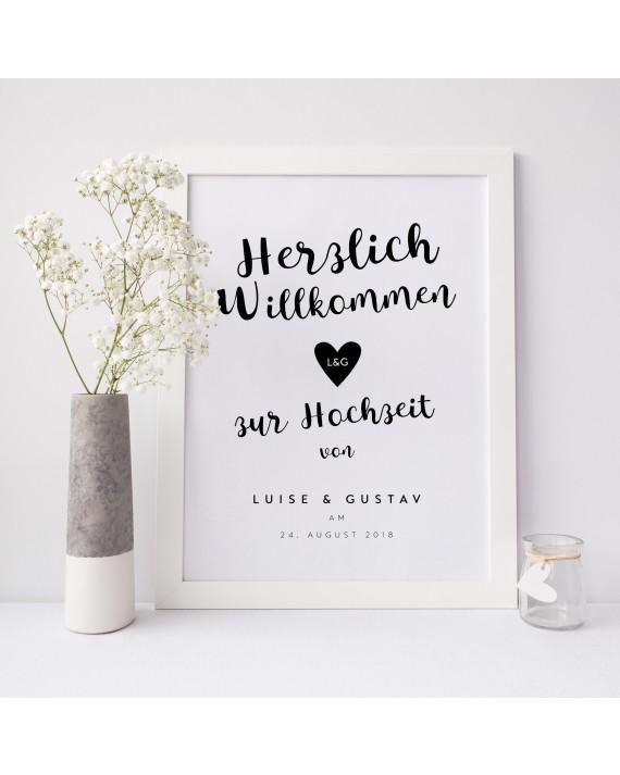 """Willkommen Poster """"Monochrom"""""""