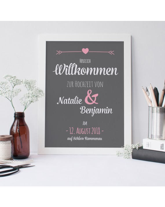 "Willkommen Poster ""Tafel"""