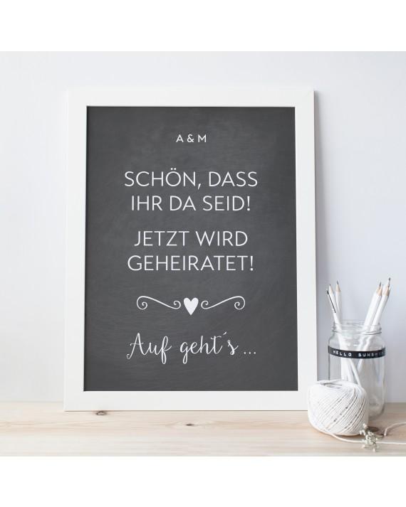"""Willkommen Poster """"Auf gehts"""""""