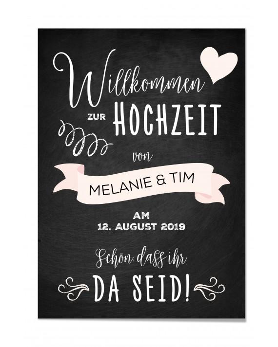 "Willkommen Poster ""Tafel Rosé"""