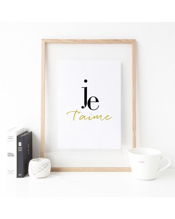 """Zitat Poster """"je t´aime"""""""