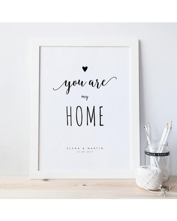 "Zitat Poster ""My Home"""