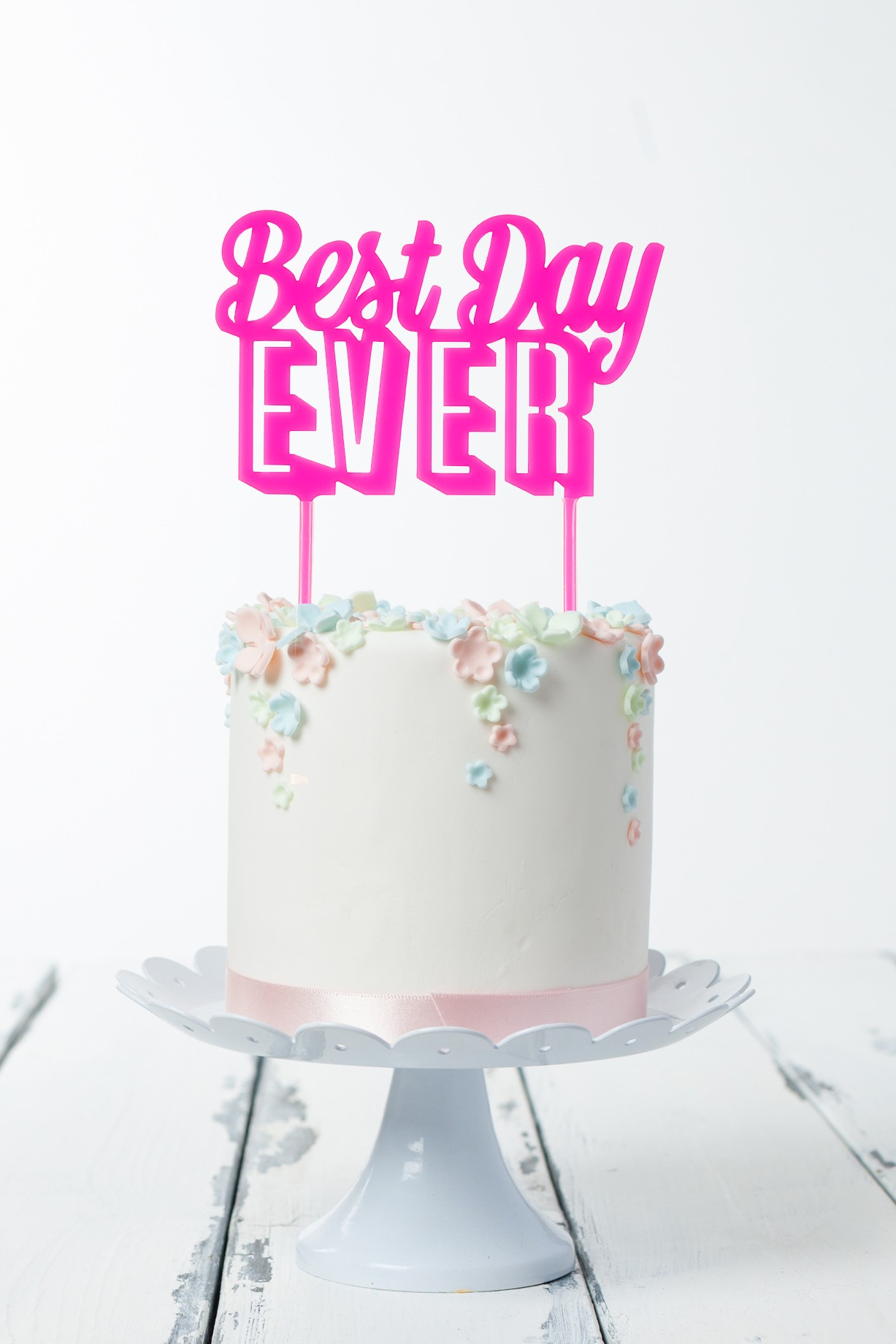 Cake Topper Best Day