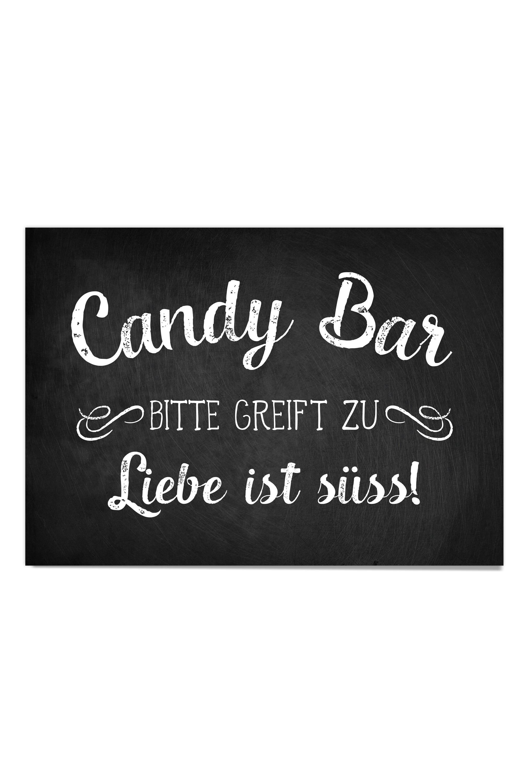 Candy Bar Poster Design Grusskarten
