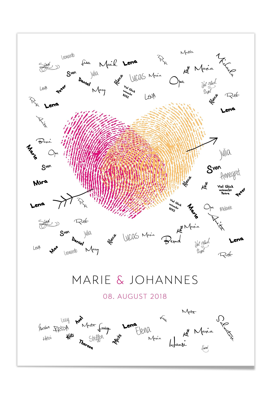 Gästebuch Poster zur Hochzeit - Design-Grusskarten