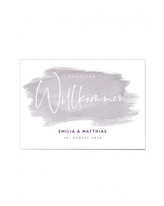 """Willkommen Poster """"Watercolor"""""""