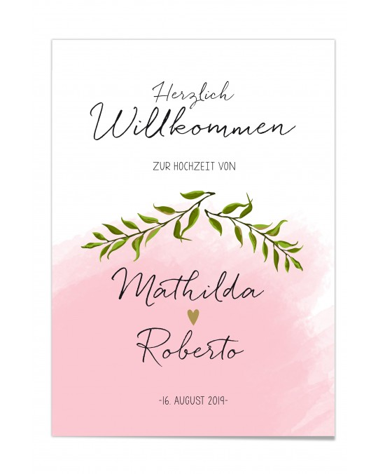 "Willkommen Poster ""Aquarell"""