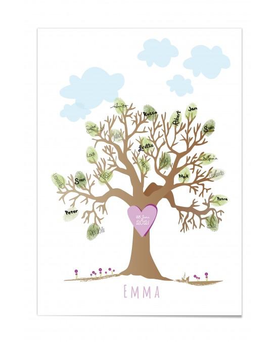 """Kinder Poster """"Taufbaum Mädchen"""""""