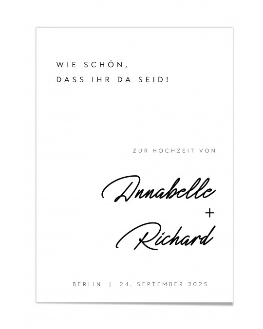 "Willkommen Poster ""Weiss"""