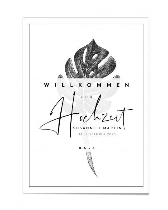 "Willkommen Poster ""Bali"""