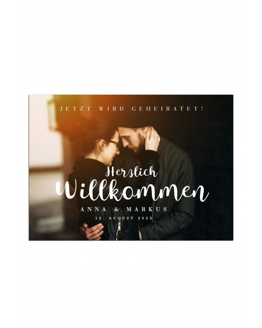 """Willkommen Poster """"Wir"""""""
