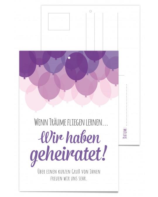 """Luftballonkarte """"Balloons"""" 25 Stück"""
