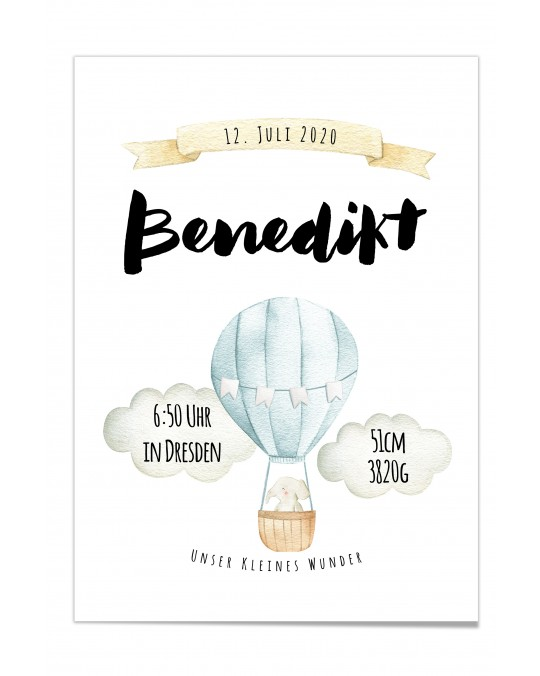 "Baby Poster ""Benedict"""