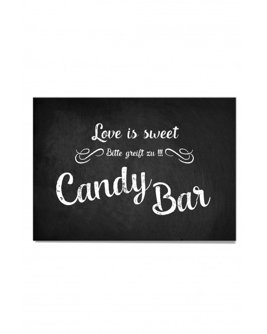 "Candy Bar Poster ""Chalkboard"""