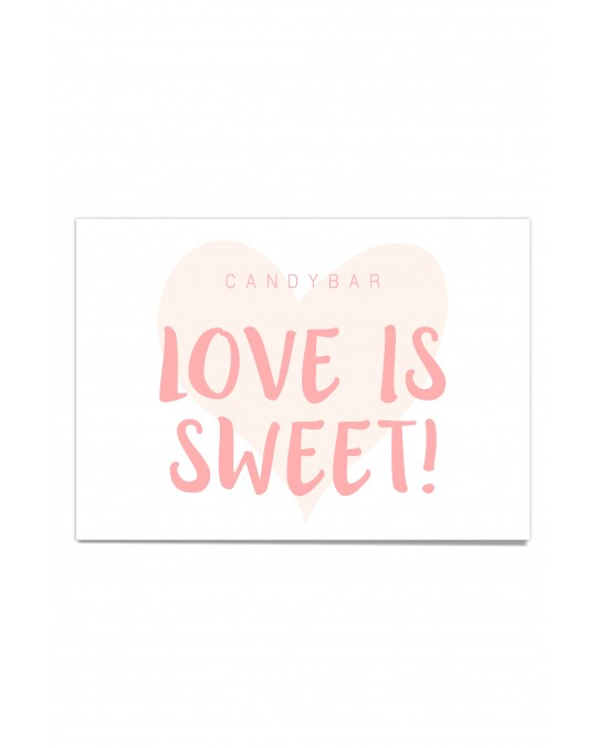 "Candy Bar Poster ""Watercolor"""