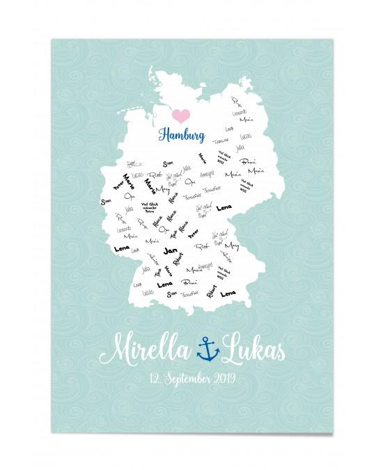 """Gästebuch-Poster """"Hamburg"""""""
