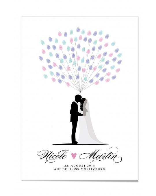 """Fingerprint-Poster """"Brautpaar"""""""