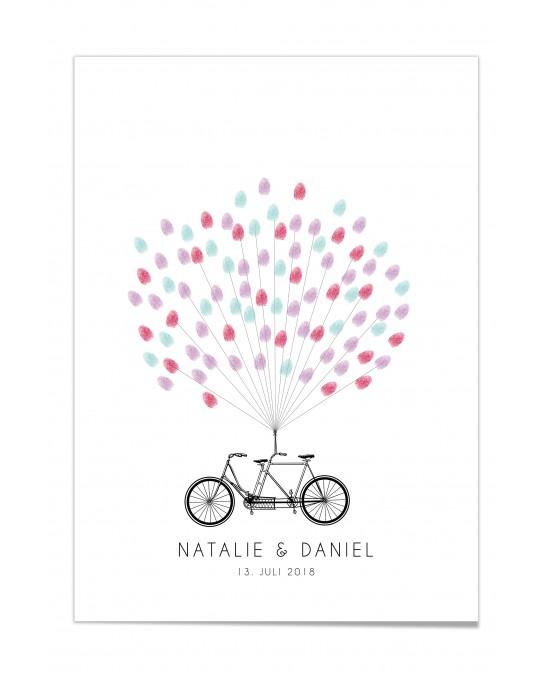 """Fingerprint-Poster """"Fahrrad"""""""