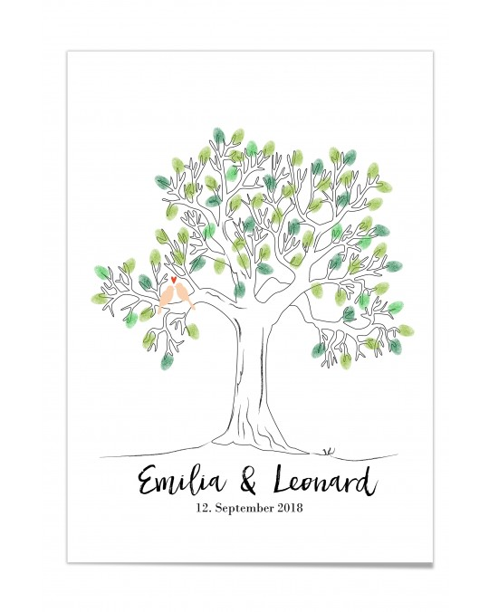 "Fingerprint-Poster ""Weddingtree"""