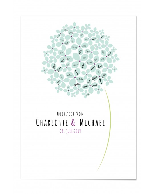 "Gästebuch-Poster ""Blume"""