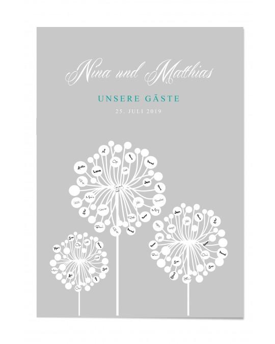 "Gästebuch-Poster ""Pusteblume"""