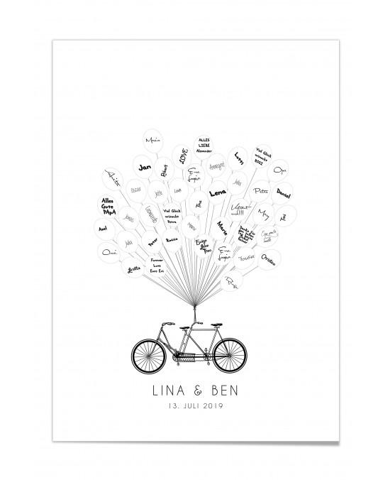 """Gästebuch-Poster """"Fahrrad"""""""