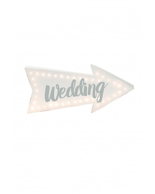 "LED Wegweiser ""Wedding"""