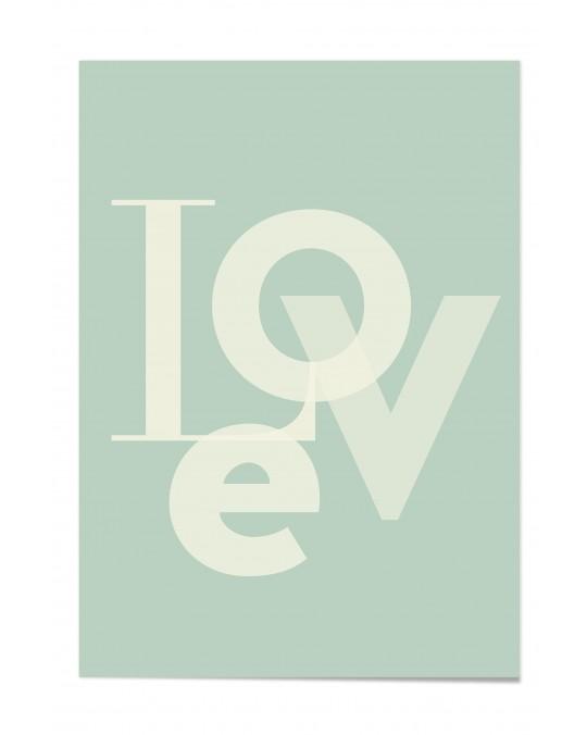 "Zitat Poster ""Love"""