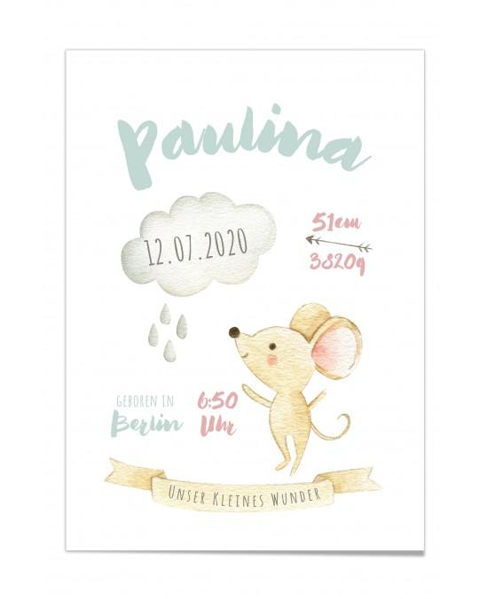 "Baby Poster ""Paulina"""