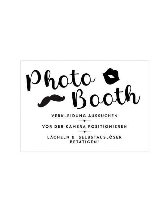 "Photo Booth Poster ""Monochrom"""