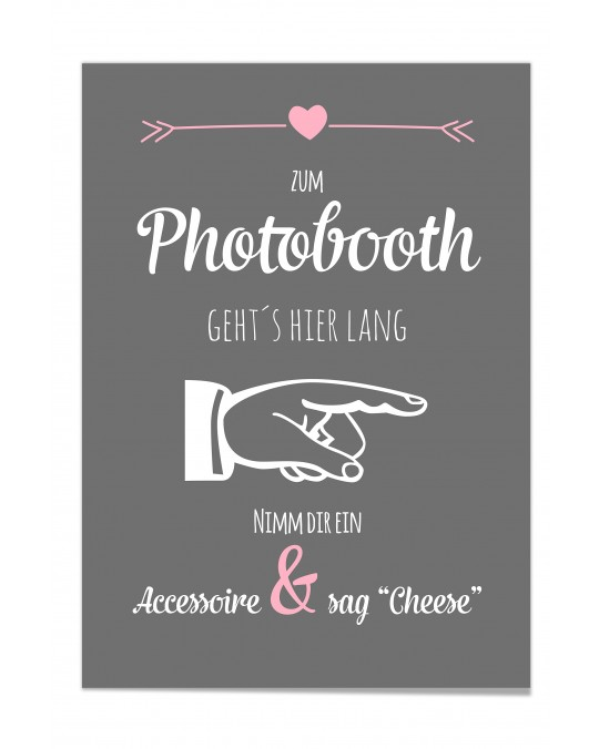 "Photo Booth Poster ""Tafel"""
