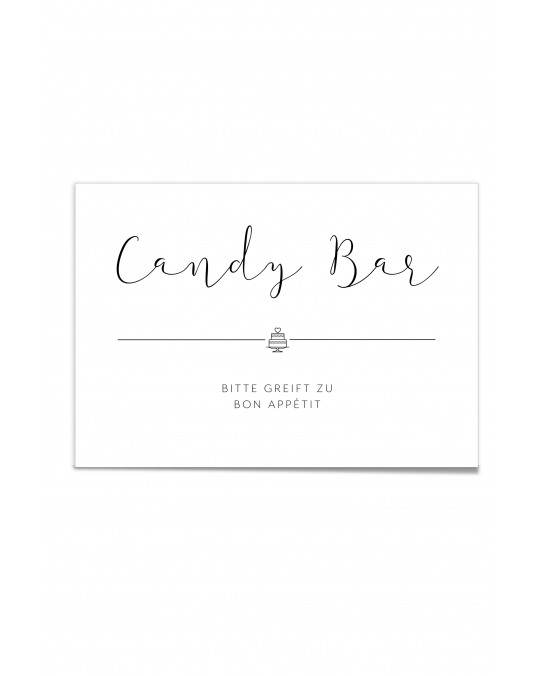 "Hinweis Poster ""Candy Bar Black & White"""