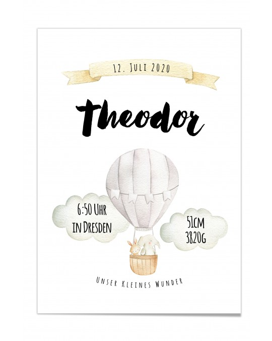 "Baby Poster ""Theodor"""